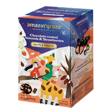 Load image into Gallery viewer, AMAZIN GRAZE CHOCOLATE COATED ALMOND & STRAWBERRY 150G (PACK)