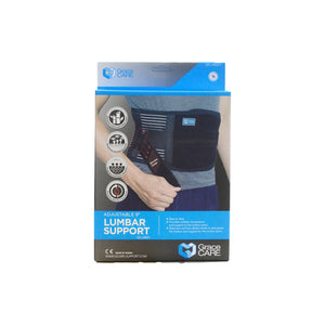 "GRACE CARE 9"" ADJUSTABLE LUMBAR SUPPORT LB221"