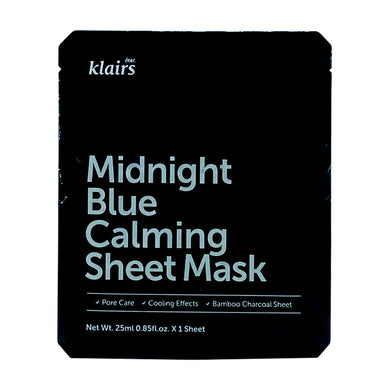 KLAIRS MIDNIGHT BLUE CALMING MASK (5S - PACK) - Wellings Online Store