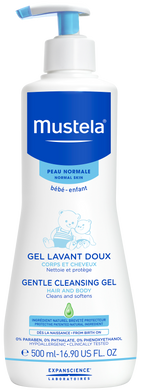 MUSTELA GENTLE CLEANSING GEL 500ML (BTL) - Wellings Online Store