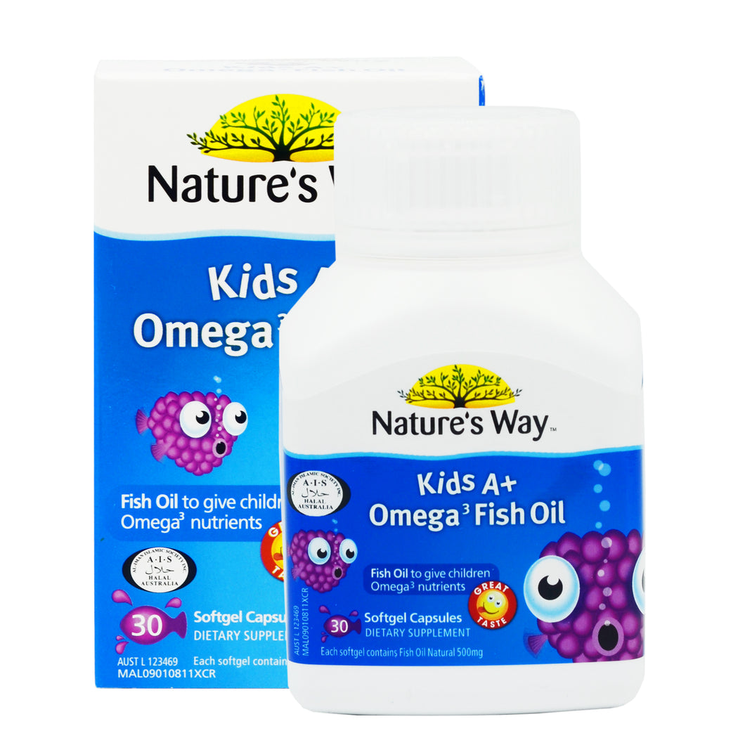 NATURE'S WAY KIDS A+ OMEGA 3 FISH OIL (30S - BOX)