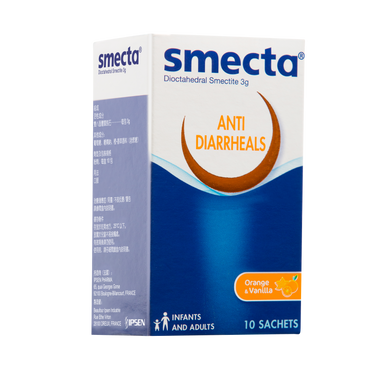 SMECTA ANTI DIARRHEALS ORANGE-VANILA (10S - BOX) - Wellings Online Store