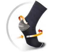Load image into Gallery viewer, THERMOSKIN WALK-ON PLANTAR FXT COMPRESSION SOCKS CREW LENGTH (BOX)