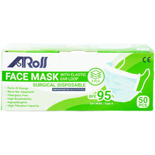 Load image into Gallery viewer, AROS 3 PLY SURGICAL DISPOSABLE FACE MASK - EARLOOP (50S - BOX)