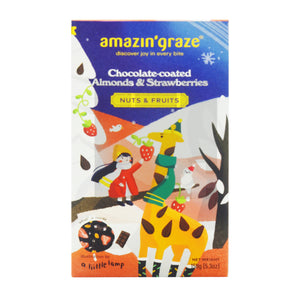 AMAZIN GRAZE CHOCOLATE COATED ALMOND & STRAWBERRY 150G (PACK)