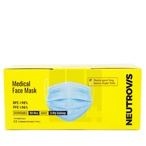 NEUTROVIS MEDICAL FACE MASK (50S - BOX)