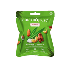 Load image into Gallery viewer, AMAZIN' GRAZE PANDAN COCONUT NUT MIX 30G (PACK)