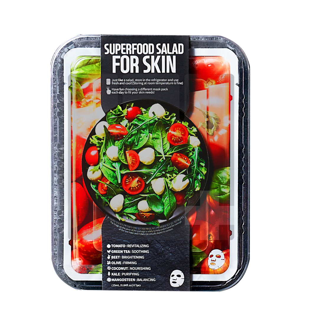 SUPERFOOD SALAD FACIAL SHEET MASK - TOMATO VITALITY BOOST SET (7S -SET)