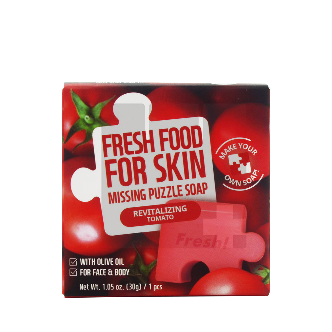 FRESH FOOD FOR SKIN MISSING PUZZLE SOAP - REVITALIZING TOMATO 30G (1PCS)