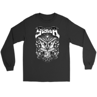 Owl White on Black Long Sleeve