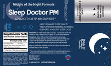 Load image into Gallery viewer, Sleep Doctor PM Label Middle of the Night Formula