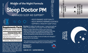 Sleep Doctor PM Label Middle of the Night Formula