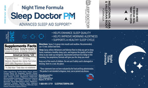 Sleep Doctor PM Label Night Time Formula
