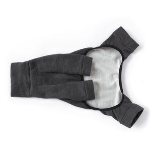 tracksuit dog pajamas in charcoal grey