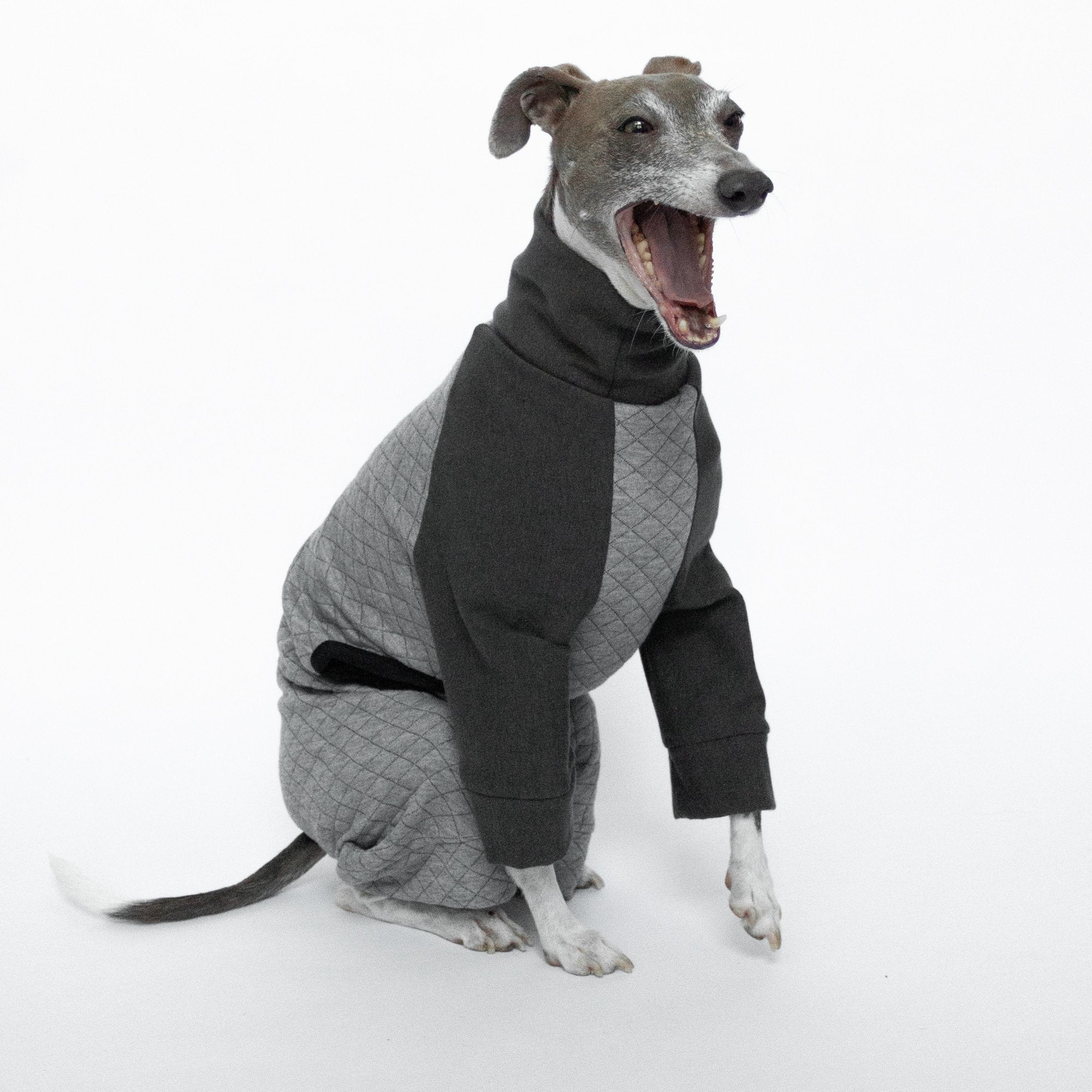 Kuvfur-dog-pajamas-onesie-quilted-grey-greyhound