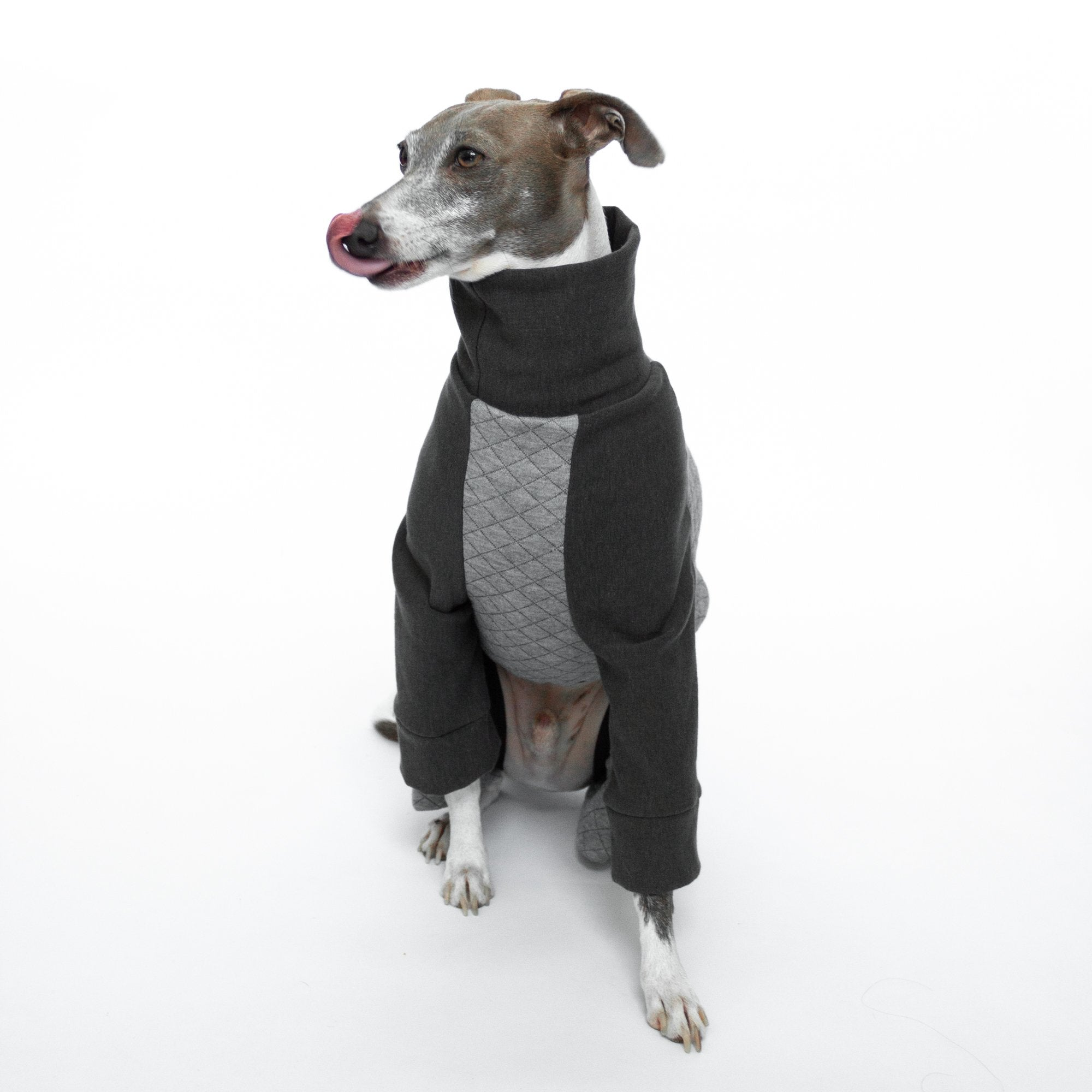 Kuvfur-dog-pajamas-onesie-quilted-grey-italian-greyhound