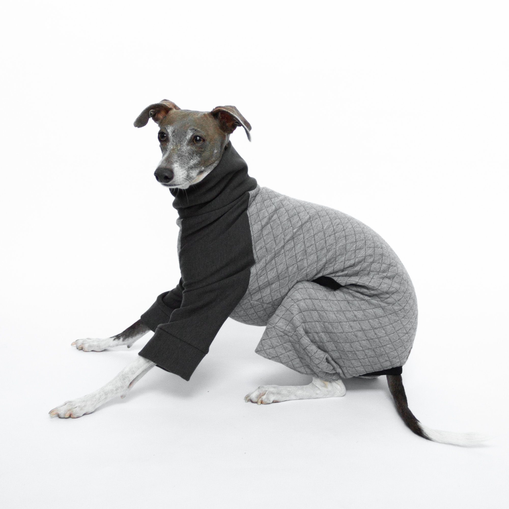 Kuvfur-dog-pajamas-onesie-quilted-grey-large-dog-small-dog
