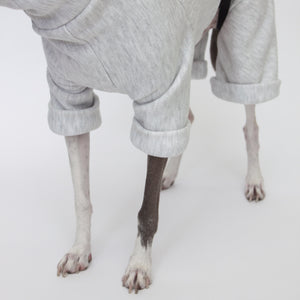 kuvfur dog pajamas tracksuit jogger grey folded cuffs