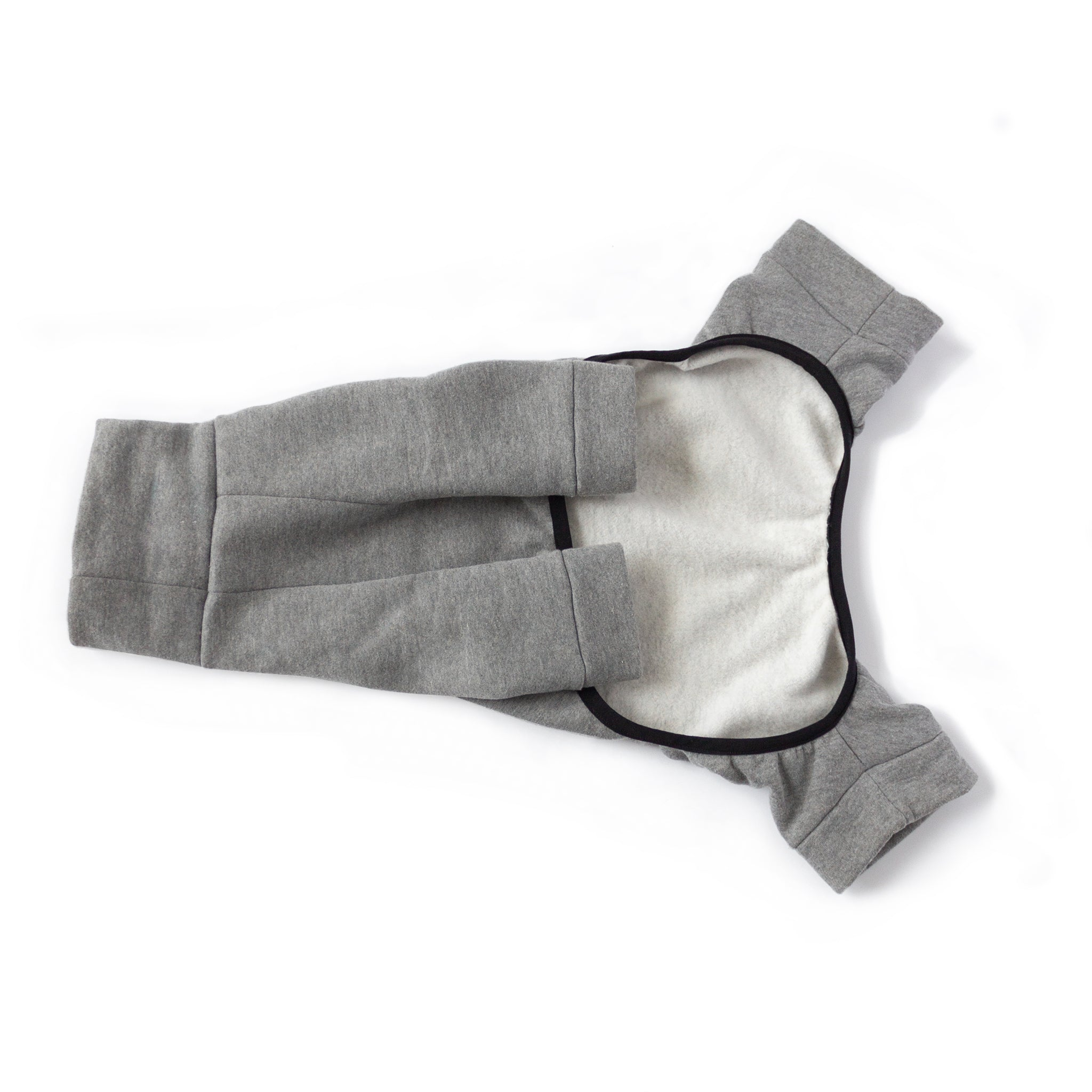dog pajama onesie medium grey tracksuit