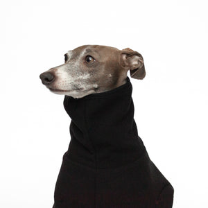 italian greyhound snood kurvfur fleece dog onesie black