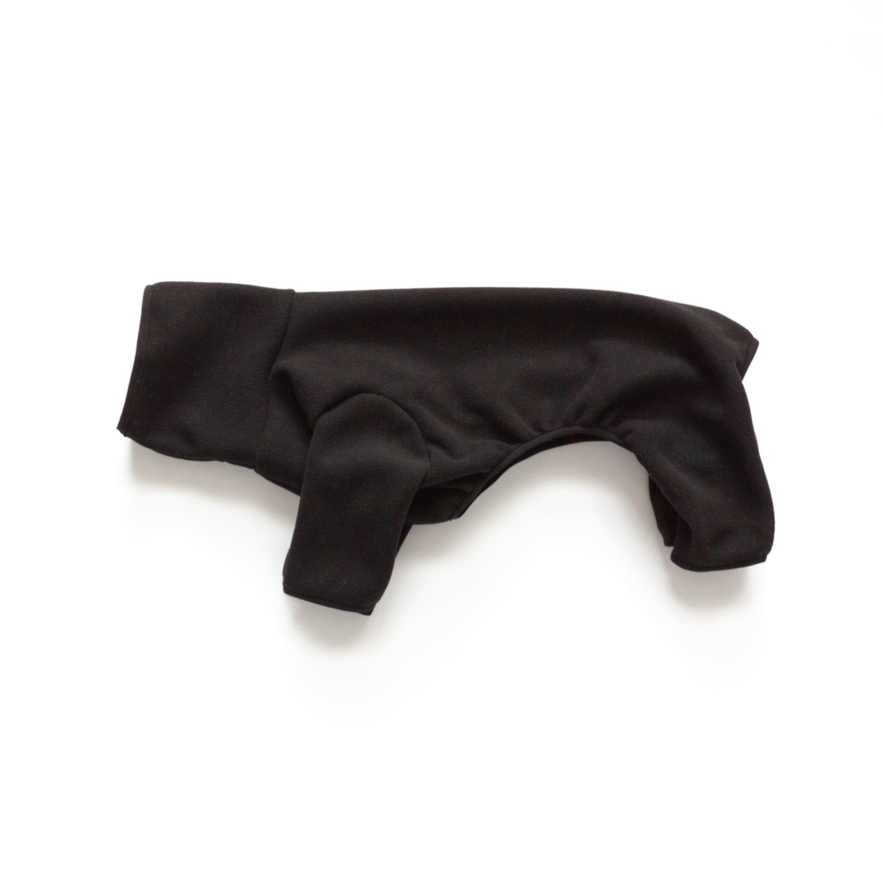 kuvfur fleece black dog oneise pajamas