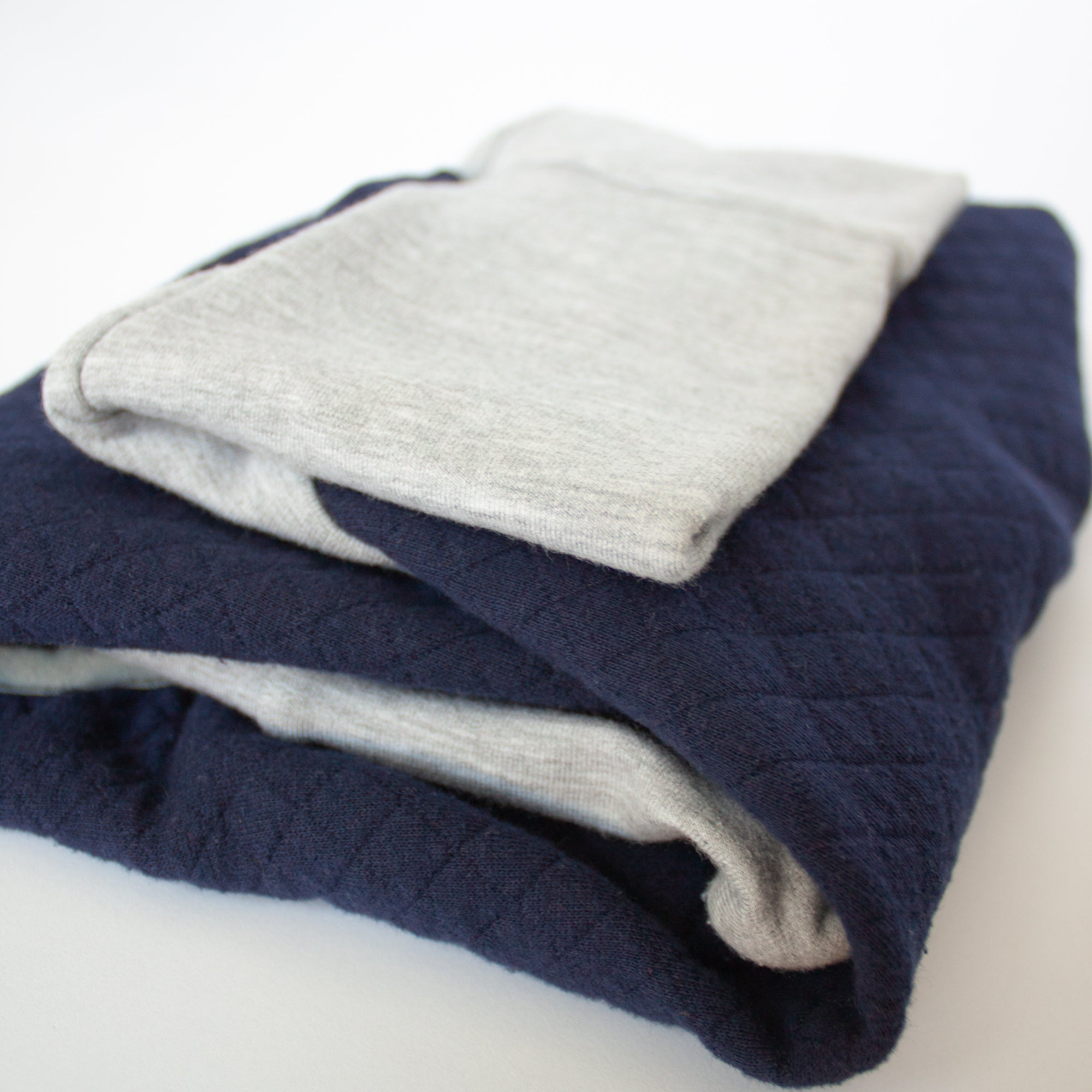 quilted dog pajamas navy blue and grey