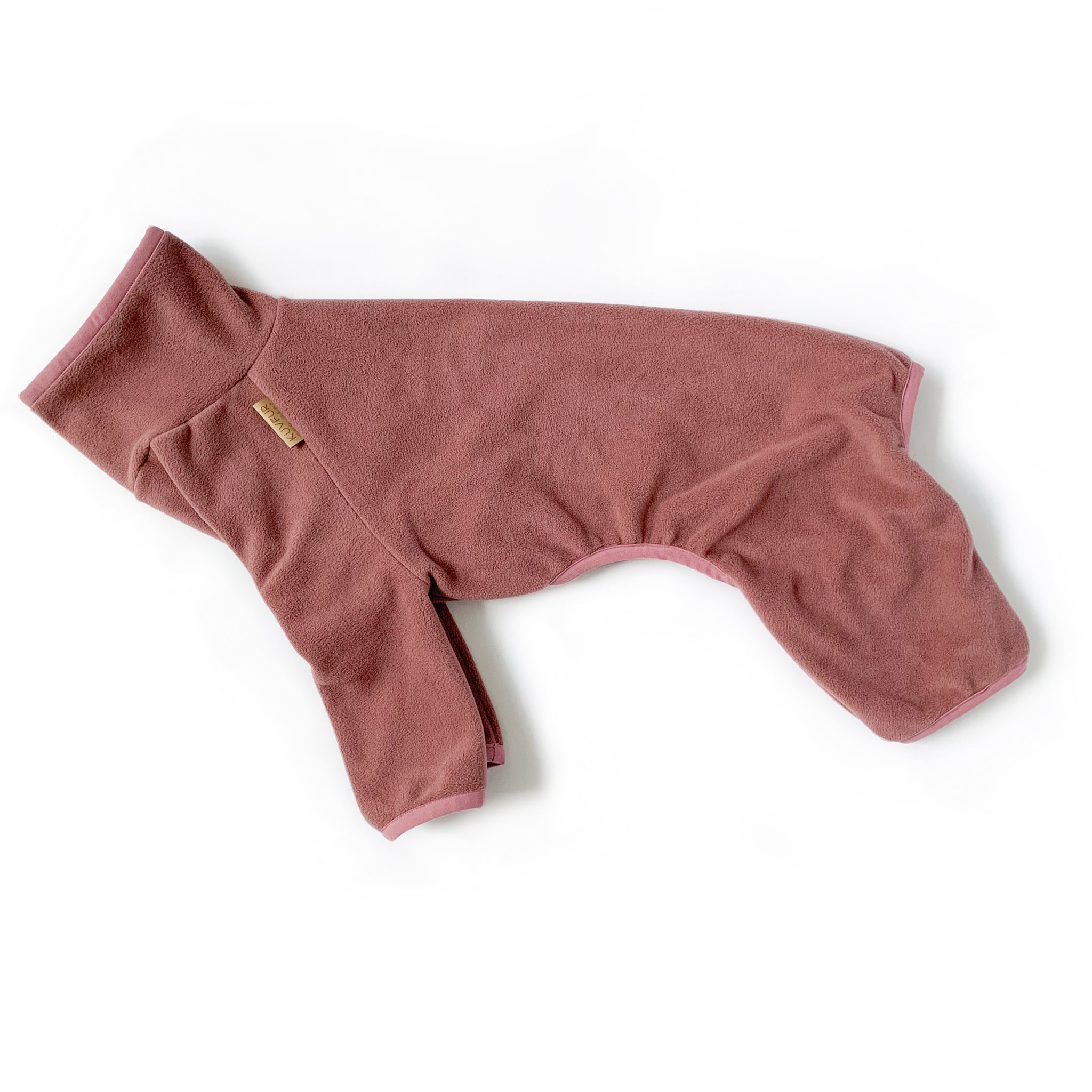 Fleece Dog Onesie - Rose Pink