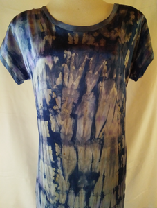 Short Sleeve Shibori Dress