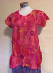 Red Nuno Felted Top