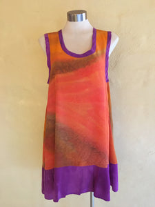 Sleeveless Dress (Orange)