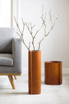 Hold Me Tight- Leather Vase Brown