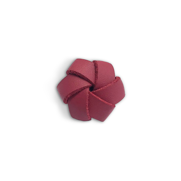 Leather flower red