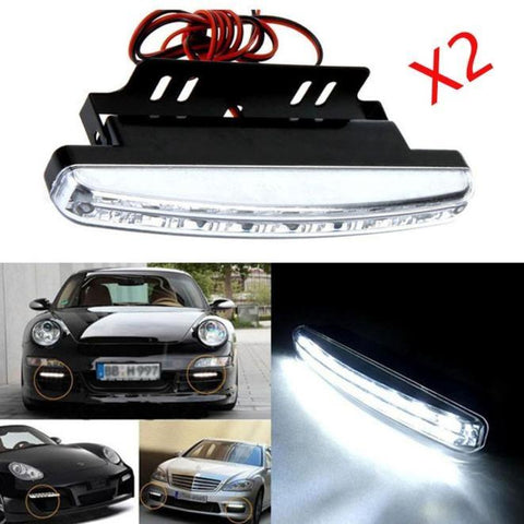 8 LED Car Daytime Running Light