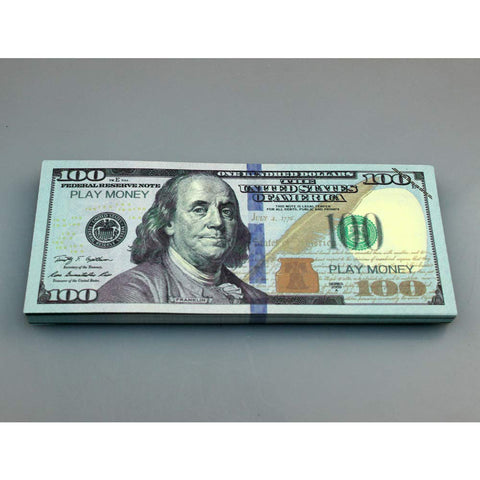 Prop Money Fake Money Dollar $100 Practice Training Paper Currency Money  Counting 100 Sheets