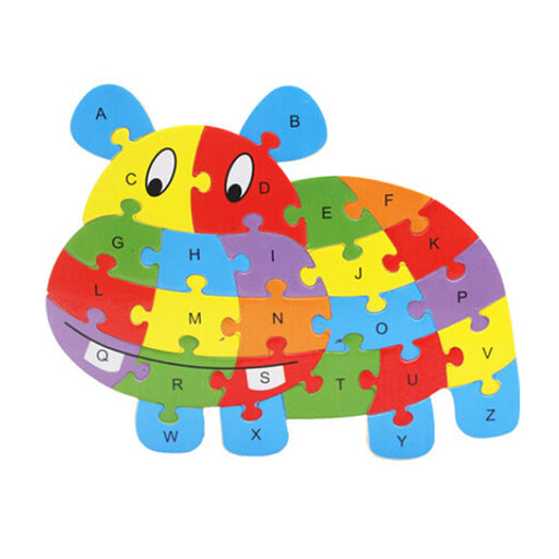 Wooden Animal ABC Alphabet Learning Toy