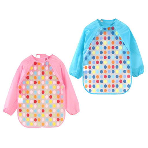 Long Sleeve Cartoon Baby Bibs Apron Waterproof Toddler Feeding Bibs Burp Cloths