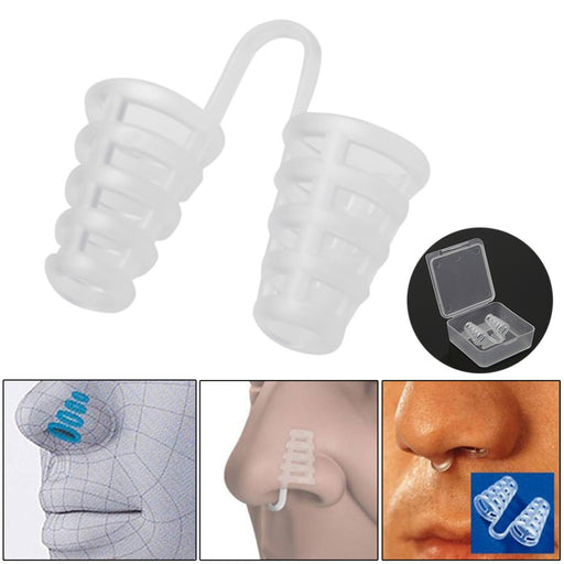 Stop Snoring Cones Men's Anti Snore Nasal Dilator Breathe-Easy Modern Design Useful Congestion Aid Tools
