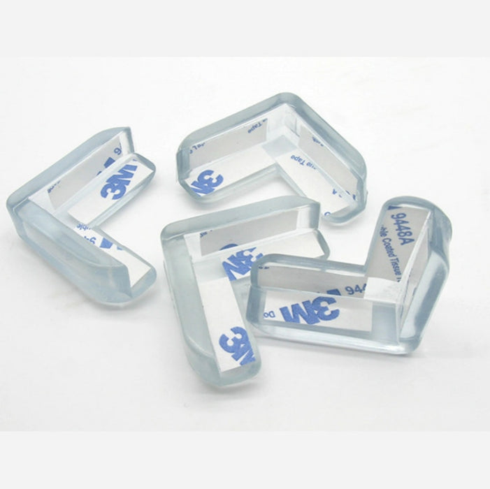 L Shape Transparent Table Protector, 4pcs