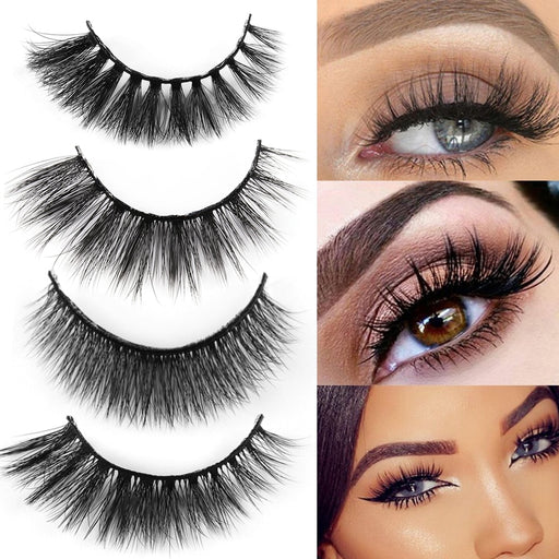 Natural Eyelashes 5 Pairs 3D Mink Hair Long Messy Makeup Fake Eye Lashes Extension Make Up Beauty Tools