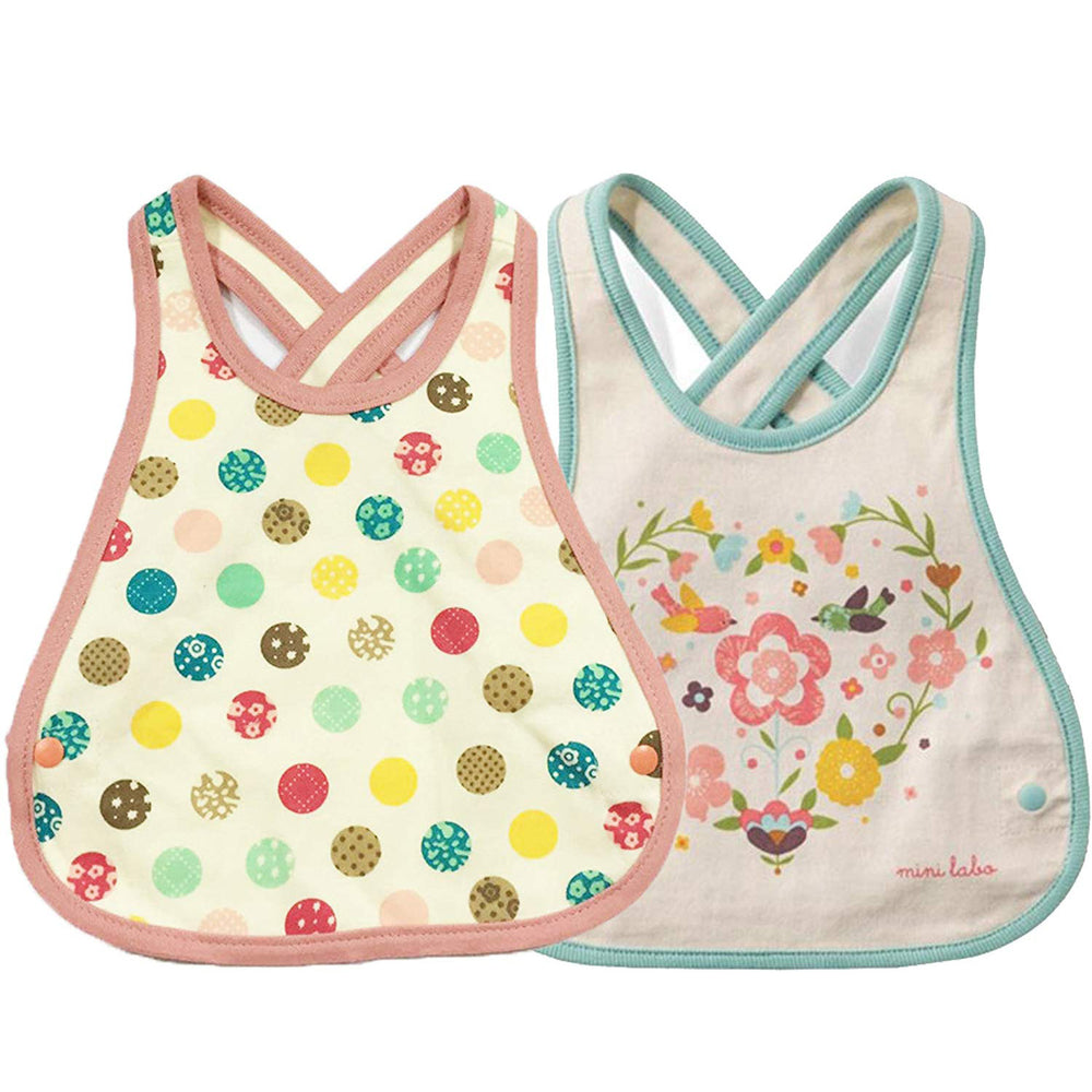 Baby Bibs, Newborn Baby Crossover Straps Apron Drool Bibs, 2 Pack