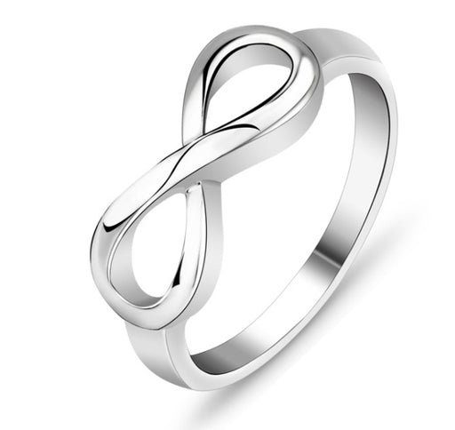 Sterling Silver Infinity Ring Endless Love Symbol  Fashion Rings For Women
