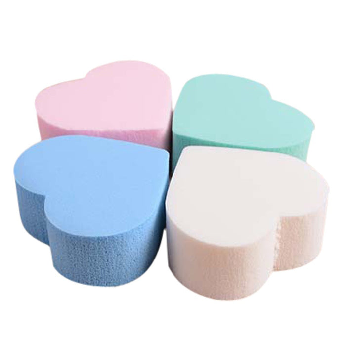 Multi Shape Sponges Pro Beauty Flawless Makeup Blender Foundation Puff 4pcs