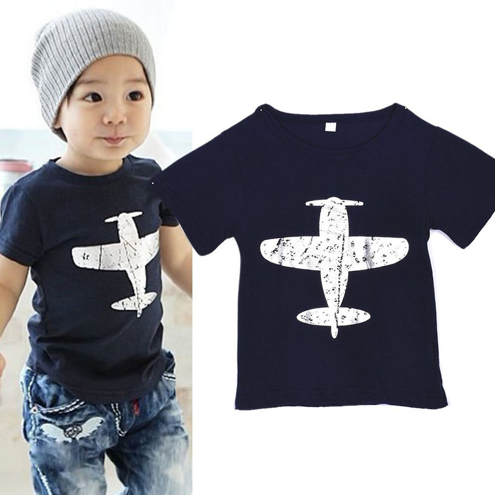Printed short sleeve T-Shirt Cotton Tops 2-6 years