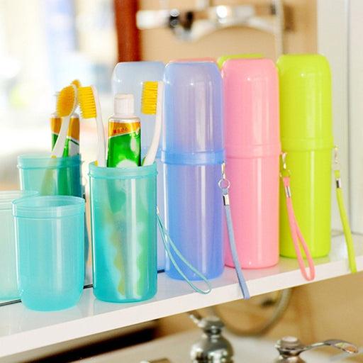 Travel Toothbrush Cup Cover Toothpaste Holder Storage Orangizer Case Dry Gainer