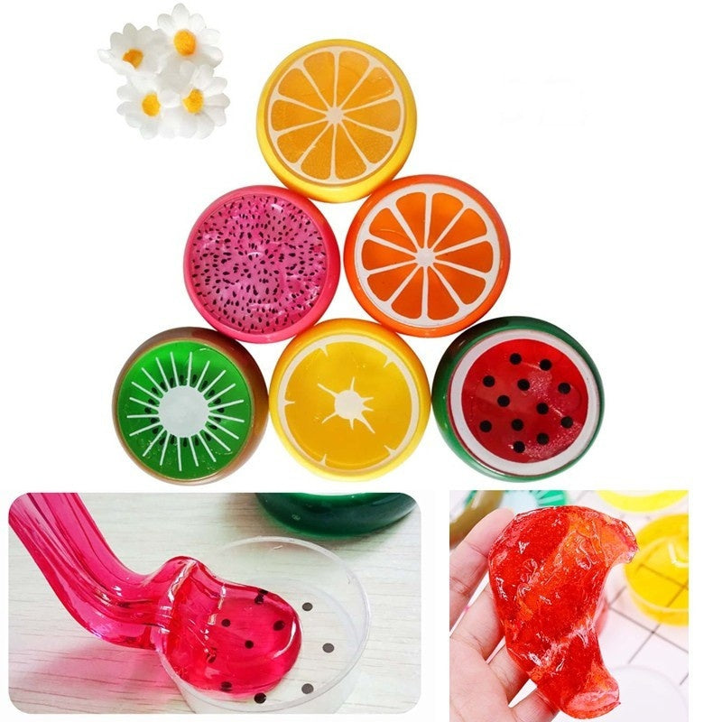 Plasticine Slime Kid Toys Crystal Fruit Clay Rubber Mud Intelligent toy Hand Gum