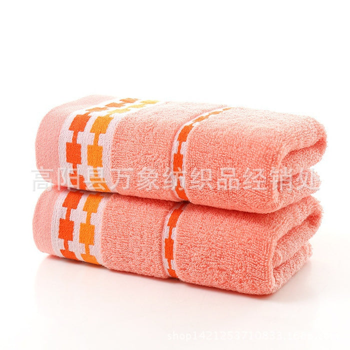 Washcloth Super Absorbent  Soft Washcloth The Bath Pure Cotton Siege Back Word Bath Towel 4 Color