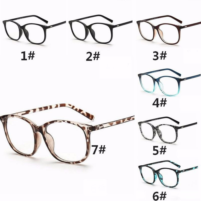 Plain Eyewear  Vintage Unisex Computer Protection Clear Lens Big Frame Flat Mirror