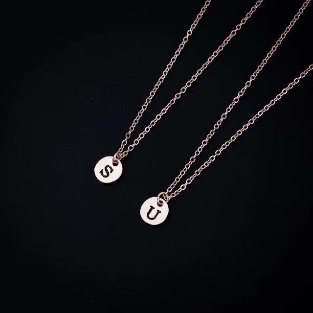Tiny Gold Initial Necklace Gold Silver Letter Necklace Initials Name Necklaces Pendant for Women Girls Best Birthday Gift