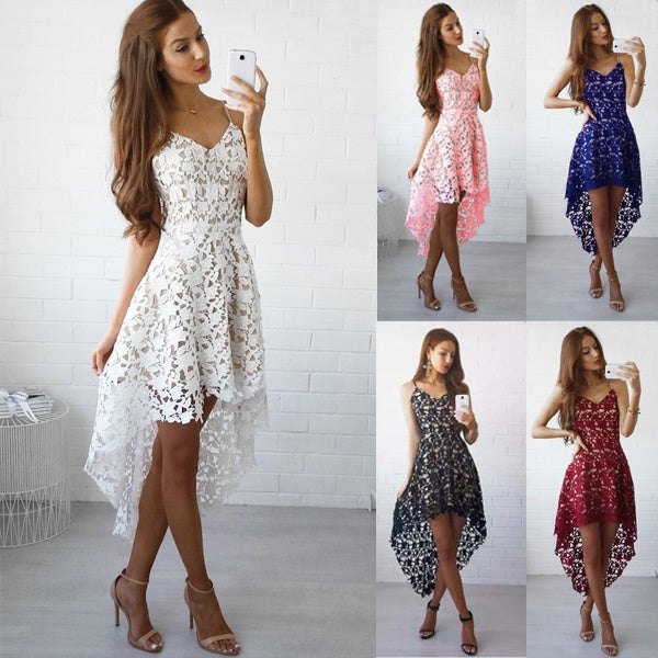 Slim Dress  V Neck Elegant Lace  Vintage Cocktail Evening Party Dresses