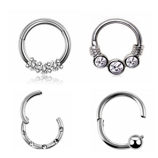 Nose Hoop Rings Nose Septum Daith Earring Lip Piercings Jewelry 1PC